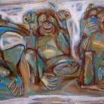 Художник Александр Шинин-Обезьянки, 2006г. холст, акрил, 60х100,