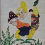 Картина-Косик Анастасия, Гномик, мозаика бисер,бусины,пайетки,рубка, 50х60