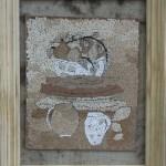 Картина-Косик Анастасия, Летнее вдохновение, мозаика из неокрашенной яичной скорлупы, 30х35
