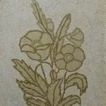 Картина на заказ-Косик Анастасия, Маки, мозаика из неокрашенной яичной скорлупы, 30х40