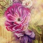 Картины художников-Запах розы 30х40 акрил, холст 2018г.