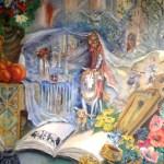 Картина-Юность Анны Ярославны,холст,масло-Татьяна Золотухина