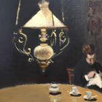 Картина на заказ-Моне Клод-Интерьер после ужина-1868г. Фрагмент2