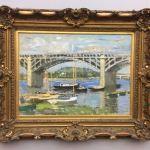 Картина-Моне Клод-Claude Monet Seinebrucke von Argenteuil, 1874