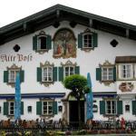 Фото-Деревня Обераммергау,художественная роспись стен
