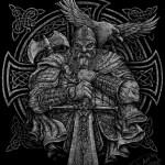 Картина-A warrior and a crow, А3, графика, 2018 - Негода Евгения