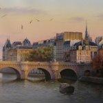 Картина-Crépuscule sur Paris