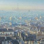 Puzzle panoramique et atmosphérique sur les toits de Paris-81,5cm x 33.5 cm
