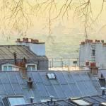 Картина на заказ-Site vue des marches de Montmartre. Format = 27 cm x 20 cm-Тьерри Дюваль (Thierry Duval)