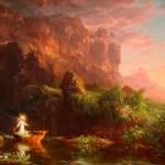 Картина-пейзаж-Коул Томас-Cole_-_The_Voyage_of_Life_Childhood,_1842
