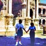 Возле Триумфальной арки Константина.Рим.Колизей, 1996 г. - фото