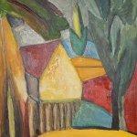 Домик в саду, вольная копия картины Пикассо, живопись маслом, Марго Пугаченко