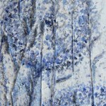 Зима. Зимняя фантазия, картон, масло, сухоцветы, 25х50,, Марго Пугаченко