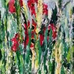 Лето. Дикие тюльпаны, картон, масло, природный объект, 35х50-, Марго Пугаченко