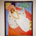 Анри Матисс, «Молодая женщина в белом, красный фон», 1946 г.