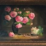 Натюрморт с розами, холст, масло, 50х70, 2016 г. -Анастасия Алёхина