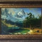 Пейзаж-Вольная копия Альберта Бирштадта, картон, масло, 30х40, 2017 г. -Анастасия Алёхина