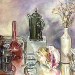 Натюрморт с зеркальным отражением холст, масло, 50х70, Инна Витер
