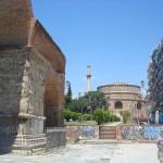 Нижний город .Салоники.Храмы....написать пейзаж акварель