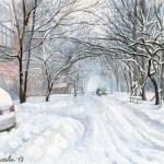 Последний снег. Акварель, бум. А4. Киев. 2018.г.-Анастасия Молодчикова