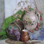 Сельский натюрморт,холст,масло, 50х60, 2013г. -Ирина Леонова