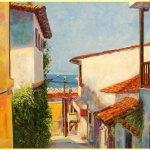 Солнечные Салоники (Греция),-холст, масло, 40х60, 2017 г. Олег М. Караваев -картина продаётся