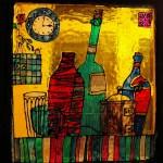 3 место - Витраж-Бутылки-25х27см-2009г-стекло, витражная краска-Дарья Попова