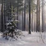 В зимнем лесу, 50х70, холст, масло, 2018г. Стаин Евгений