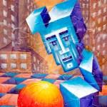 ПЗС - Квадратура круга, оргалит, холст, акрил, стекло, 56х74 2015г. - Олег Белоусов