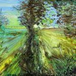 Рассвет в лесу, картон, масло, 45х56, 2009 г.- Олег Троян
