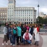 Команда Портала в центре Барселоны