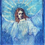 Vincent Van Gogh- Half Figure of an Angel (after Rembrandt)(Sept. 1889)- Location Unknown