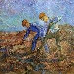 Vincent Van Gogh- Two Peasants Digging (October 1889)- Stedelijk Museum, Amsterdam