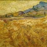 Vincent Van Gogh- Wheat Field with Reaper and Sun (1889)- Rijksmuseum Kröller-Müller, Otterlo