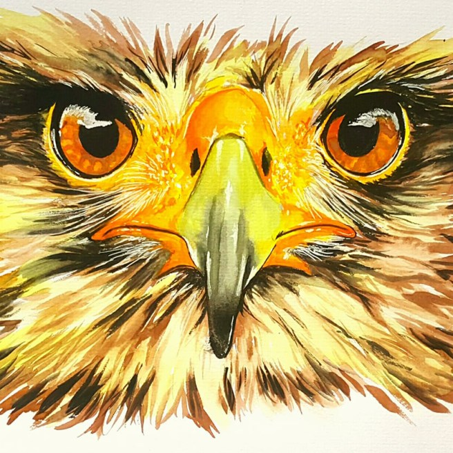 """""""Golden"""" Water Color Paint 11"""" x 14"""" Watercolor Paper Art by: Anh Pham Art supplies by: usartsupply.com"""