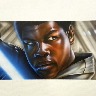 """""""FN 2187"""" Airbrush 12"""" x 12"""" Canvas Art by: Anh Pham Art supplies by: usartsupply.com"""