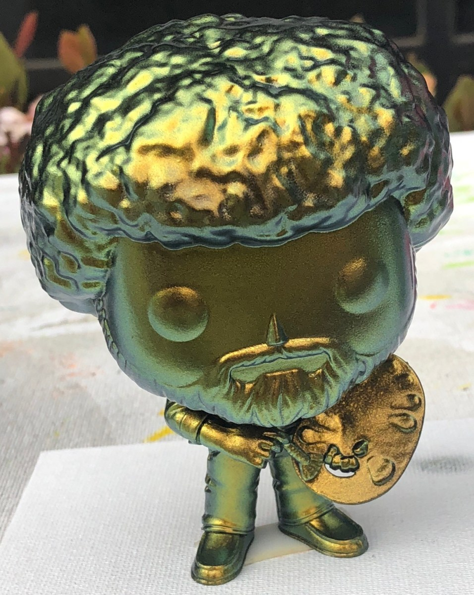 Custom Airbrushing Bob Ross Funko Pops