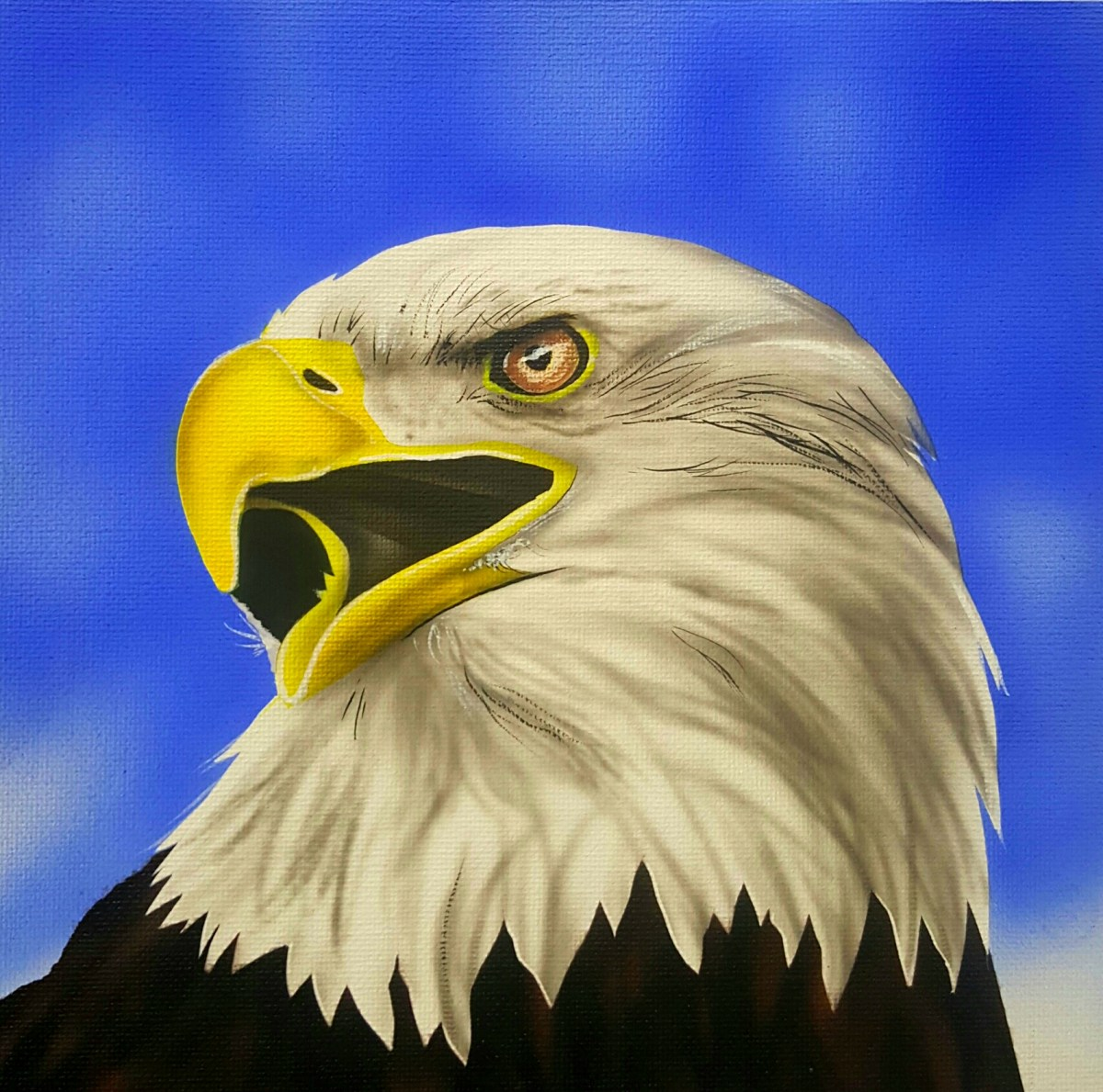 How to paint an American Bald Eagle