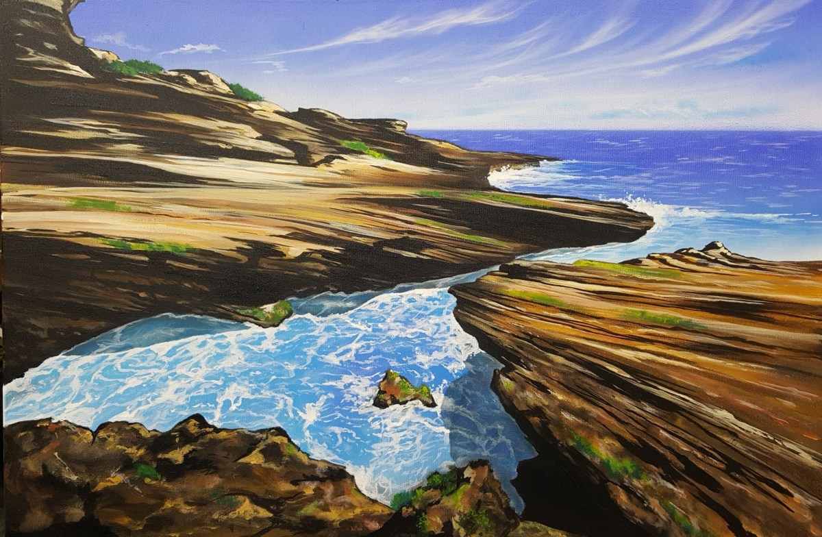 Painting Oceanscapes With Airbrush and Acrylics