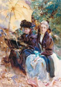 Miss Eliza Wedgwood and Miss Sargent Sketching, 1908