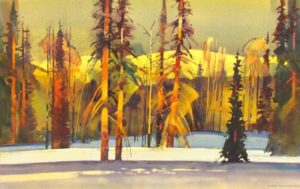 Late Light on Poxen's Run by Stephen Quiller