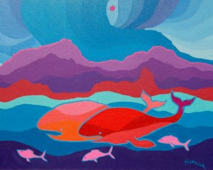 The Whales of Monterey School by Ted Harrison