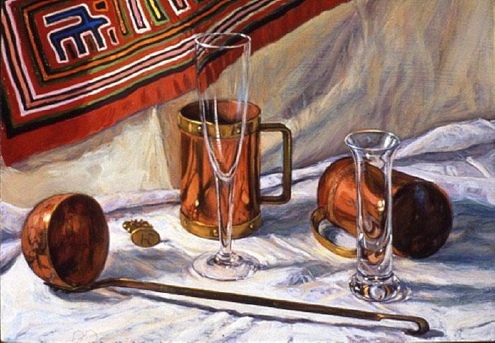 Copper and Glass by Christine Hanlon, San Francisco, California, USA