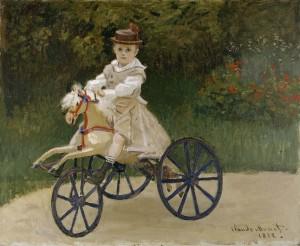 Claude-Monet__Jean-Monet-on-his-Hobby-Horse