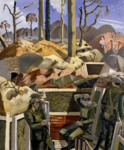 paul-nash_spring-in-the-trenches-ridge-wood_1917