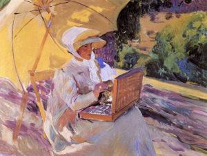 joaquin-sorolla_maria-painting-in-el-pardo