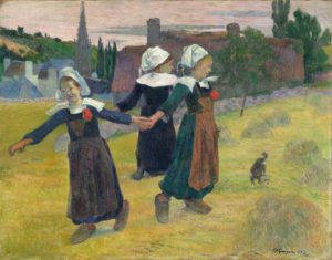 paul-gauguin_breton_girls_dancing_pont-aven