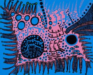 Kusama_a-tale-in-blue_2009