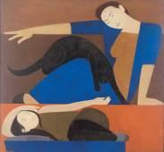 will-barnet_the-blue-robe_1962