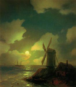 ivan-aivazovsky_windmill-on-the-sea-coast-1851